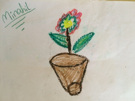 Study in Crayon. Artist: Manahil